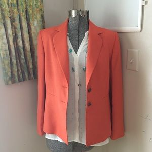 KASPER Pumpkin Orange Blazer